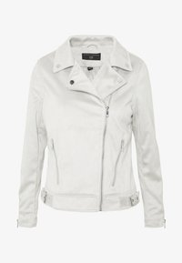 Dorothy Perkins - SUEDETTE BIKER JACKET - Imitert skinnjakke - light grey - 4