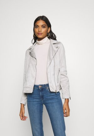 SUEDETTE BIKER JACKET - Giacca in similpelle - light grey