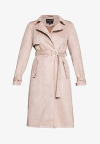 Dorothy Perkins - SUEDETTE DRING TRENCH COAT - Trenchcoat - blush - 3