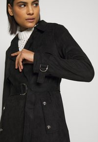 Dorothy Perkins - SUEDETTE DRING TRENCH COAT - Trenchcoat - black - 5