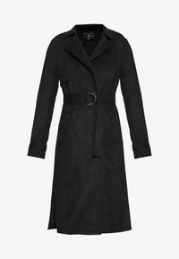 Dorothy Perkins - SUEDETTE DRING TRENCH COAT - Trenchcoat - black - 4