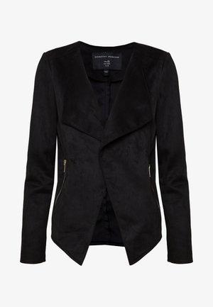 SUEDETTE WATERFALL JACKET - Faux leather jacket - black