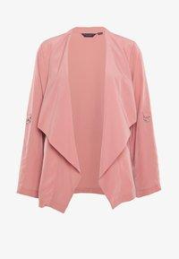 Dorothy Perkins - WATERFALL THROW ON JACKET - Lett jakke - dark rose - 3