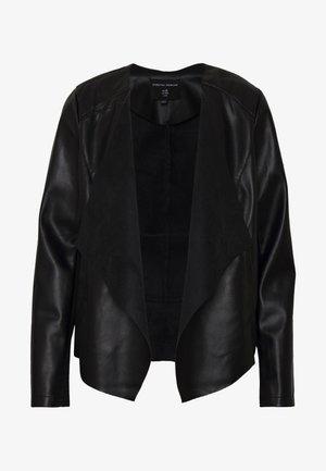WATERFALL JACKET - Chaqueta de cuero sintético - black