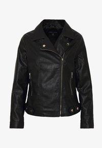 Dorothy Perkins - BIKER JACKET - Faux leather jacket - black - 3