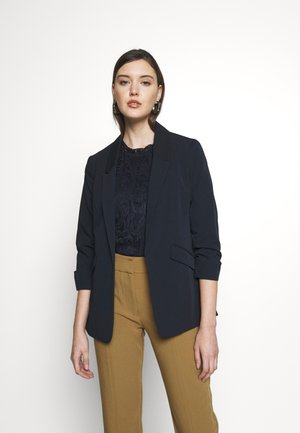 PRINTED EDGE TO EDGE JACKET - Blazer - navy blue