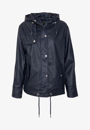 SHORT RAINCOAT - Waterproof jacket - navy