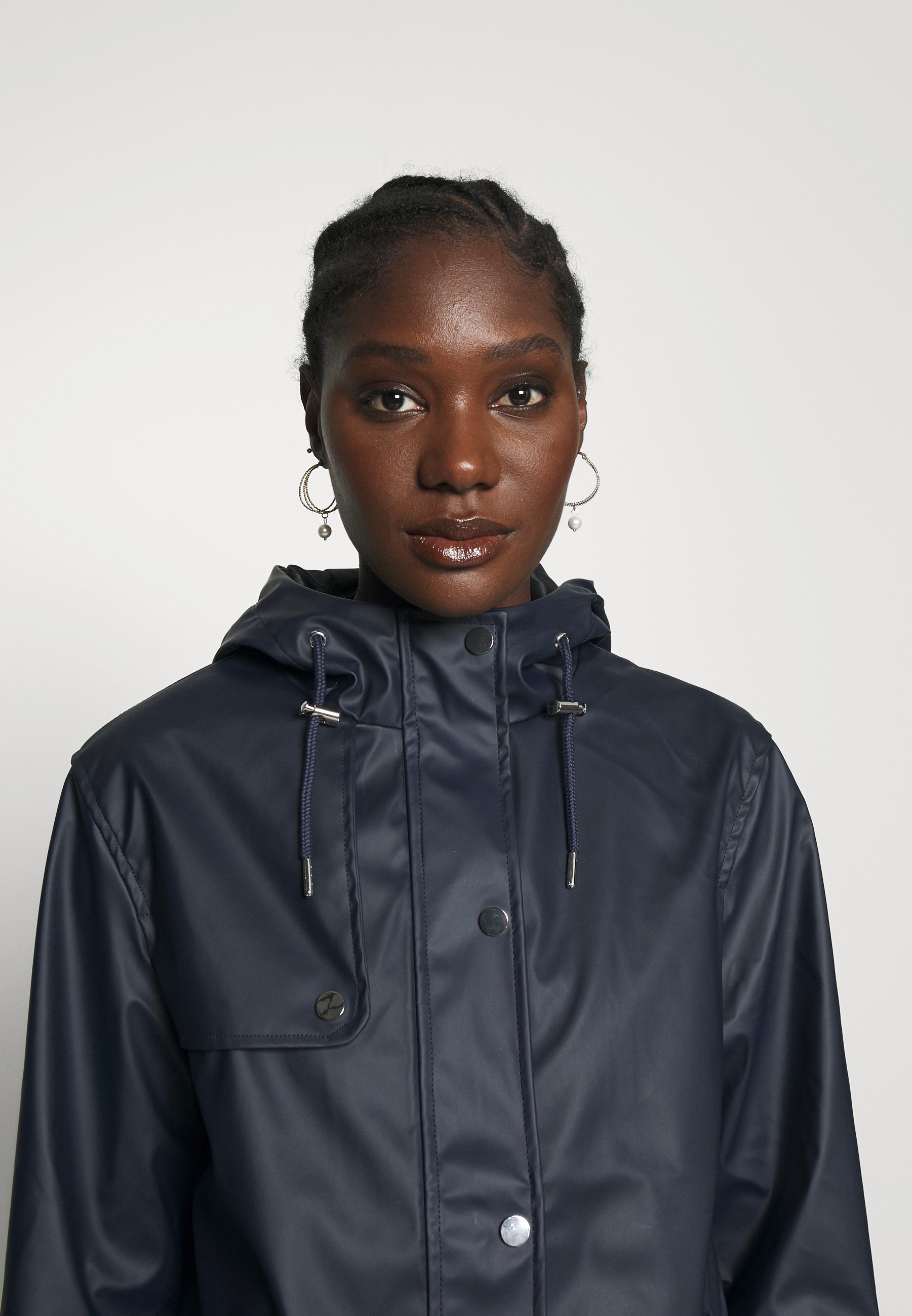 Dorothy Perkins Short Raincoat - Regnjakke Navy