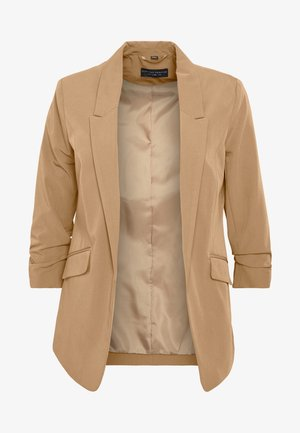 CAMEL EDGE TO EDGE JACKET - Blazer - light brown