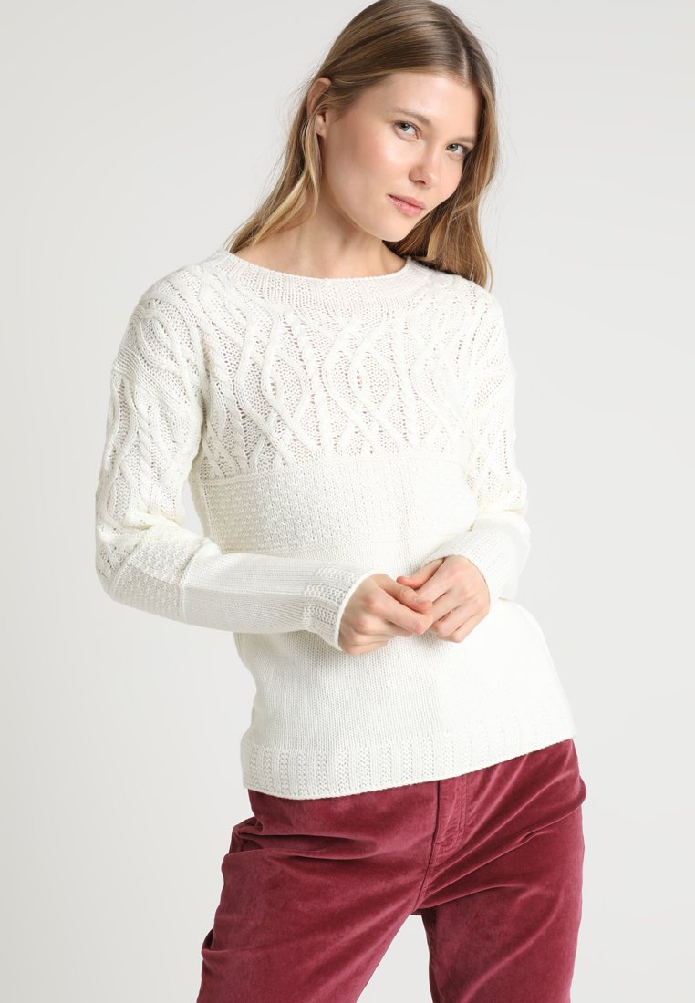 Dorothy Perkins - MAGGIE CABLE YOKE JUMPER - Strickpullover - ivory
