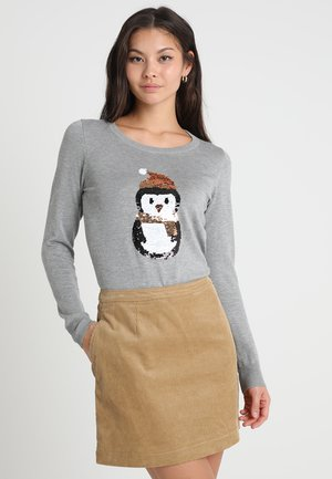 REVERSIBLE SEQUIN PENGUIN - Jumper - grey