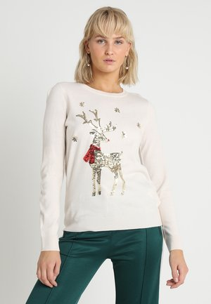 CHRISTMAS STAG - Jumper - ivory