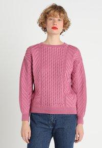 Dorothy Perkins - CUTE CABLE JUMPER - Jumper - pink - 0