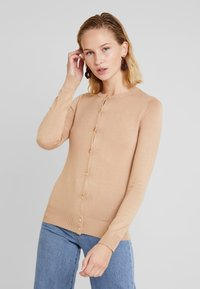 Dorothy Perkins - BUTTON CORE CARDI - Vest - camel - 0