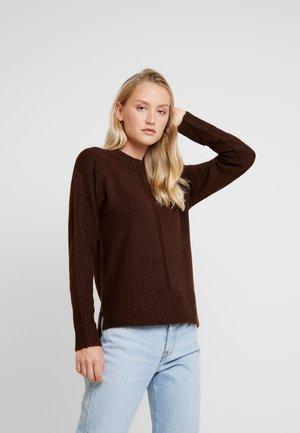 HEM JUMPER - Pullover - choc