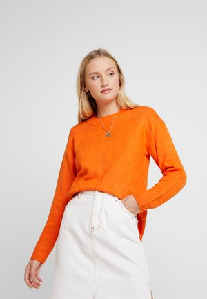 HEM JUMPER - Stickad tröja - orange