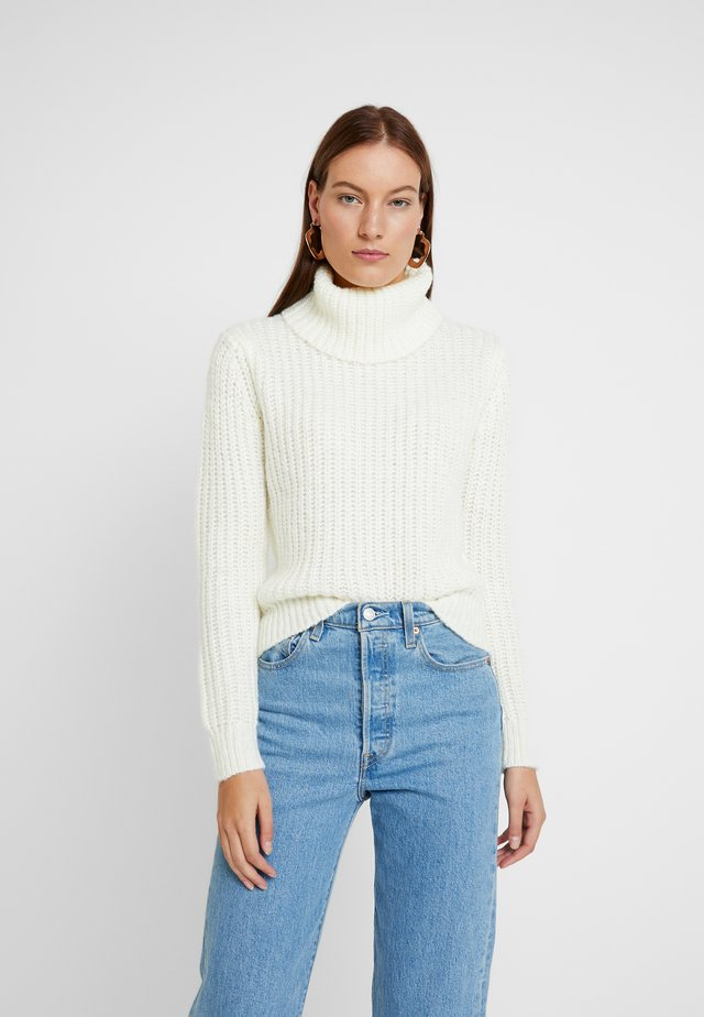 CHUNKY ROLL NECK - Neule - cream