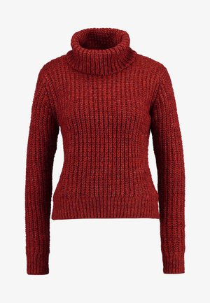 CHUNKY ROLL NECK - Maglione - rust