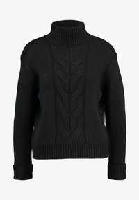 Dorothy Perkins - CHUNKY FUNNEL NECK JUMPER - Jumper - black