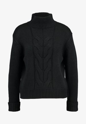 CHUNKY FUNNEL NECK JUMPER - Jumper - black