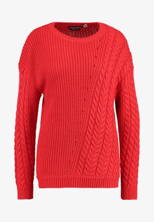 DIAGONAL CABLE - Maglione - red