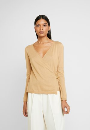 WRAP D -RING JUMPER - Pullover - camel
