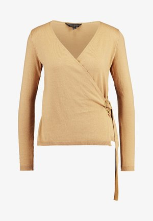 WRAP D -RING JUMPER - Sweter - camel
