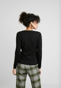 Dorothy Perkins - WRAP D -RING JUMPER - Trui - black - 2