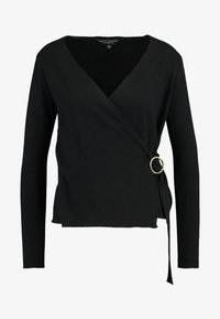 Dorothy Perkins - WRAP D -RING JUMPER - Trui - black - 3