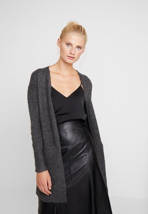 LONGLINE EDGE TO EDGE CARDI - Cardigan - charcoal