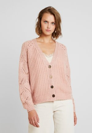 SLEEVE BUTTON - Cardigan - blush