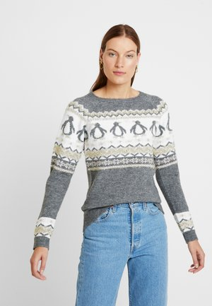 FAIRISLE TINSEL PENGUIN - Jumper - grey marl