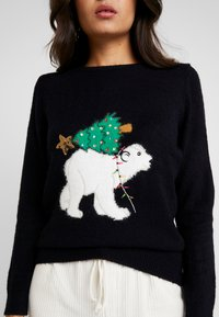 Dorothy Perkins - POLAR BEAR XMAS TREE - Jumper - navy - 5
