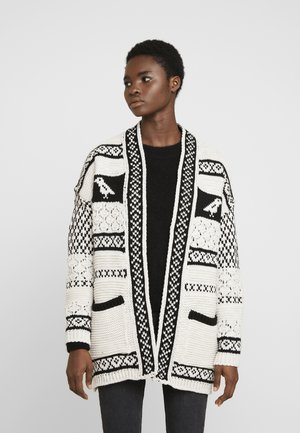 BIRD AZTEC CARDI - Cardigan - cream