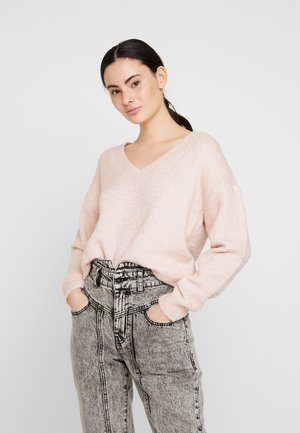 V-NECK JUMPER - Jumper - blush