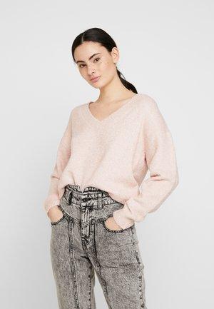V-NECK JUMPER - Pullover - blush