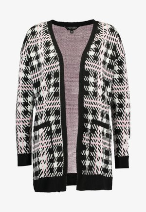 CHECK CARDI - Cardigan - black