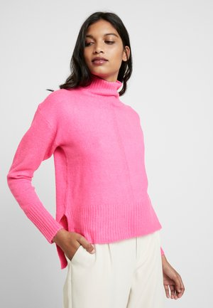 LEAD IN HIGH NECK - Jumper - hot pink