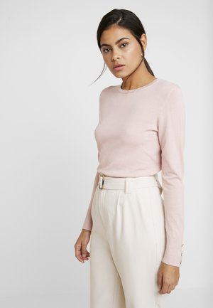 BUTTON CUFF - Strickpullover - blush