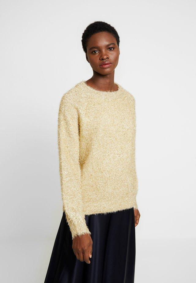 EYELASH TINSEL - Sweter - gold