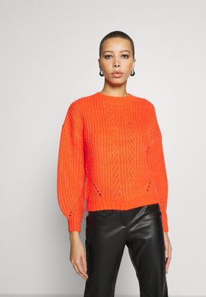 POINTELLE STITCH - Pullover - red
