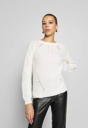 LEAD IN STITCH - Sweter - cream