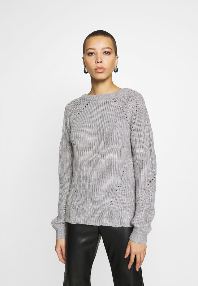 STITCH INTEREST JUMPER - Neule - grey marl