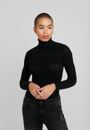 ALL OVER JUMPER - Pullover - black