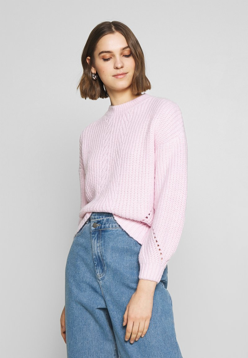 Dorothy Perkins - POINTELLE STITCH - Sweter - lilac