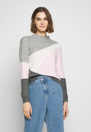 COLOUR BLOCK - Jumper - grey