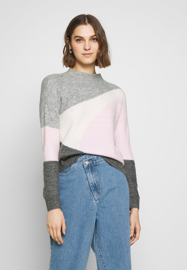 COLOUR BLOCK - Jersey de punto - grey