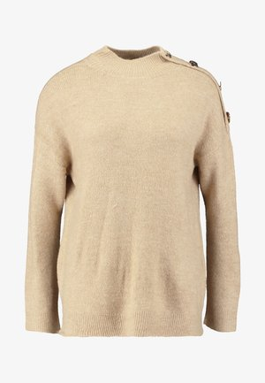 BUTTON SHOULDER - Pullover - camel