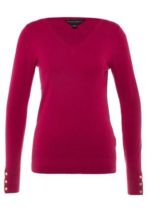 V-NECK BUTTON CUFF - Maglione - pink