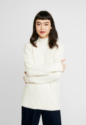 DIAMOND HIGH NECK JUMPER - Strikkegenser - oatmeal